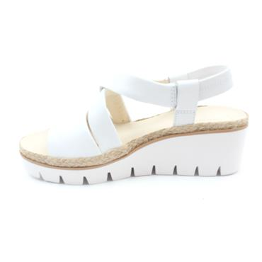 GABOR 44631 STRAP WEDGE SANDAL - WHITE