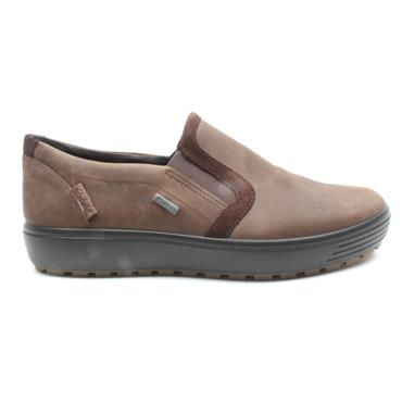 ECCO 450324 SLIP ON SHOE - COFFEE