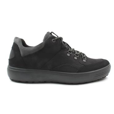 ECCO 450354 LACED SHOE SOFT 7 - BLACK/BLACK