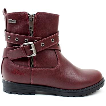 SOLIVER 45404 BUCKLE BOOT - BURGUNDY