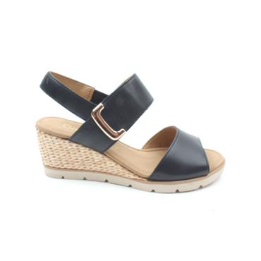 GABOR 45751 WEDGE SANDAL - NAVY