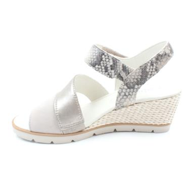 GABOR 45752 WEDGE SANDAL - BEIGE MULTI