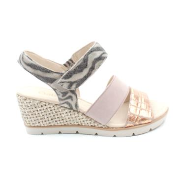 GABOR 45752 WEDGE SANDAL - ROSE