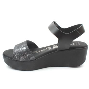 OH MY SANDAL 4577 WEDGE SANDAL - Black
