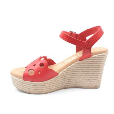 OH MY SANDAL 4598 WEDGE SANDAL - RED