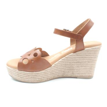 OH MY SANDAL 4598 WEDGE SANDAL - TAN