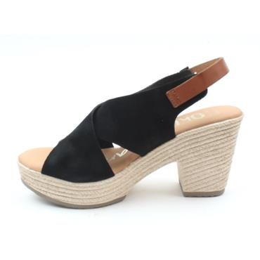 OH MY SANDAL 4605 WEDGE HEEL SANDAL - Black