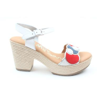 OH MY SANDAL 4607 HEELED SANDAL - WHITE MULTI