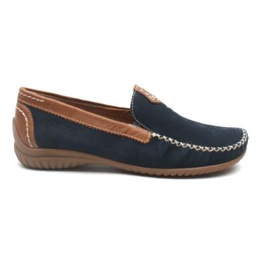 GABOR 46090 LOW LOAFER - NAVY/TAN