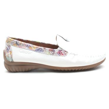 GABOR 46090 LOW LOAFER - WHITE MULTI