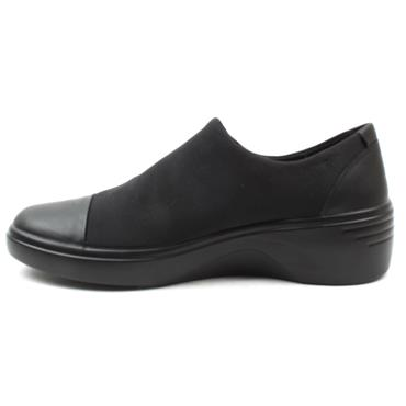 ECCO 470913 WEDGE SHOE - BLACK/BLACK