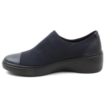 ECCO 470913 WEDGE SHOE - NAVY