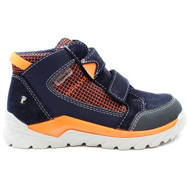 RICOSTA 4720500 VELCRO BOOT - NAVY ORANGE