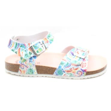 PABLOSKY 483300 BUCKLE SANDAL - WHITE