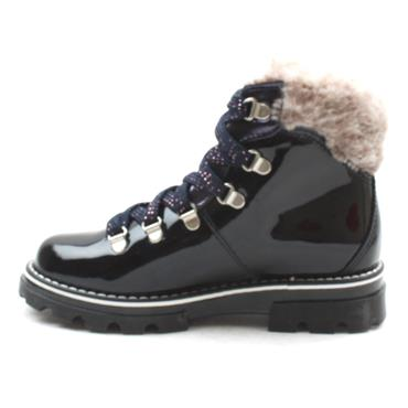 PABLOSKY 489629 LACED BOOT - NAVY PATENT