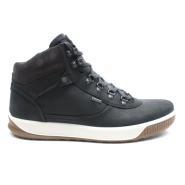ECCO 501834 LACED BOOT - BLACK/GREY