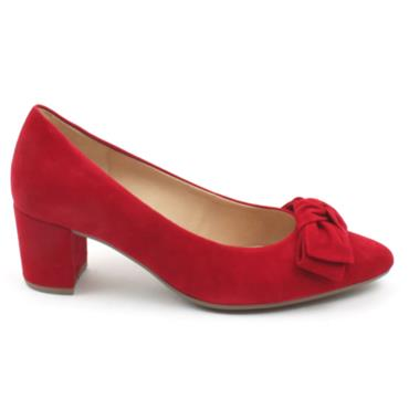 GABOR 51451 COURT SHOE - RED SUEDE