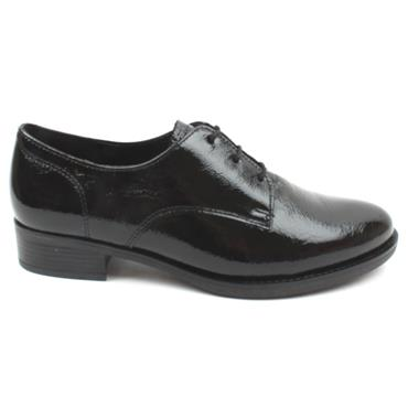 GABOR 52535 LACED SHOE - BLACK PATENT