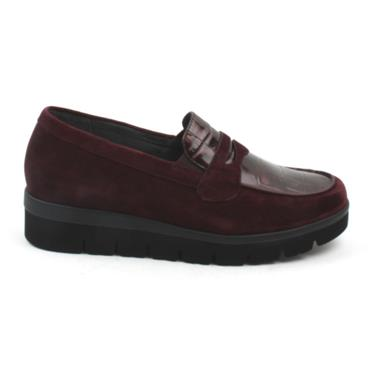 GABOR 52544 LOAFER SHOE - BURGUNDY SUEDE
