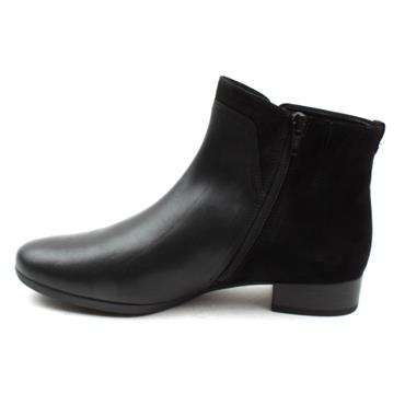 GABOR 52712 LOW HEEL ANKLE BOOT - Black