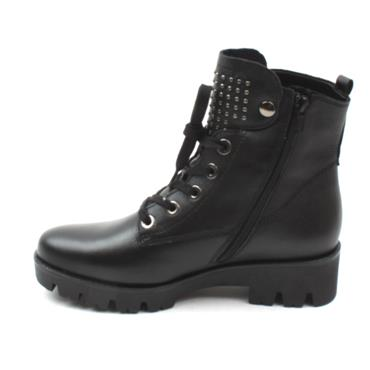 GABOR 52775, H WIDE FIT LACED BOOT - Black