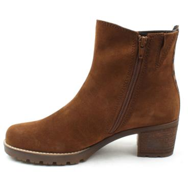 GABOR LOW HEEL BOOT 52800 - TAN/SUEDE