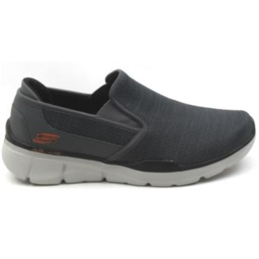 SKECHERS 52937 SLIP ON SHOE - CHARCOAL