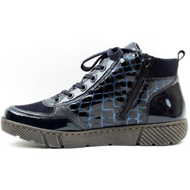 RIEKER 52941 LACED BOOT - NAVY