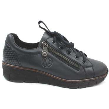 RIEKER 53702 LACED SHOE - NAVY