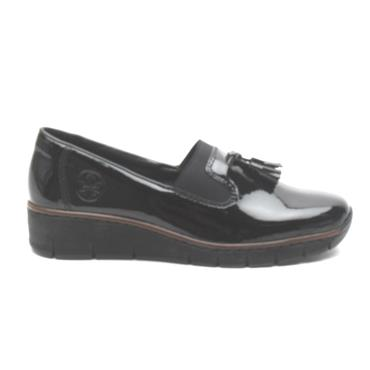 RIEKER 53751 TOGGLE SHOE - Black