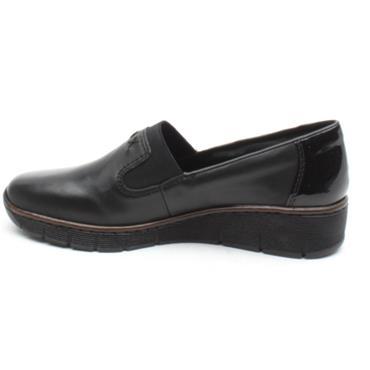 RIEKER 53762 SLIP ON SHOE - BLACK/BLACK