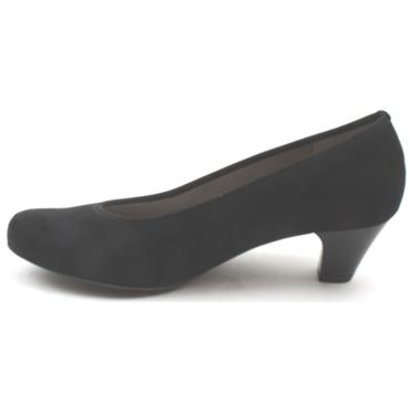 ARA 54220 LOW COURT SHOE - BLACK SUEDE