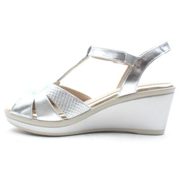 PITILLOS 5531 WEDGE SANDAL - SILVER