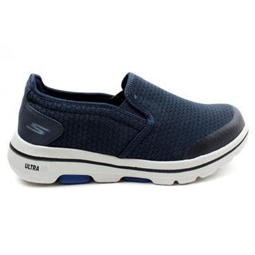 SKECHERS 55510EWW SLIP ON SHOE - NAVY