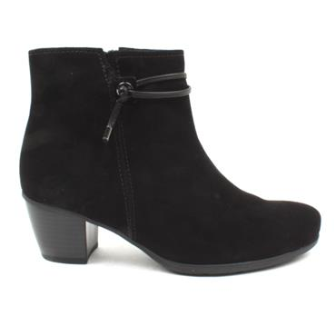 GABOR 55522 ANKLE BOOT - BLACK SUEDE