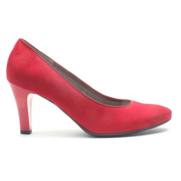JENNY 56017 COURT SHOE - RED SUEDE