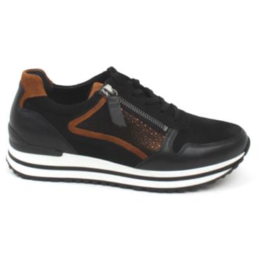 GABOR 56526 LACED SHOE - BLACK MULTI