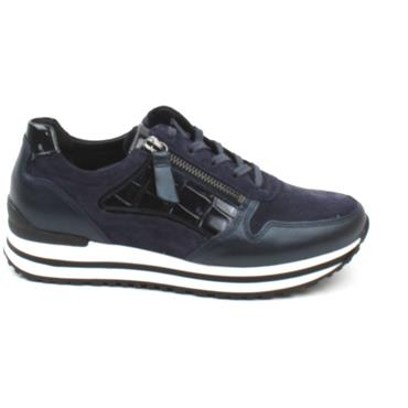 GABOR 56526, H WIDE FITTING  SHOE - NAVY MULTI