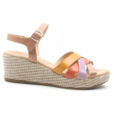 PITILLOS 5662 WEDGE STRAPPY SANDAL - MULTI