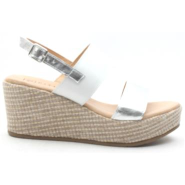 PITILLOS 5671 WEDGE SANDAL - SILVER