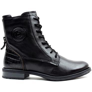 BUGATTI 5693P LACED FLAT BOOT - Black