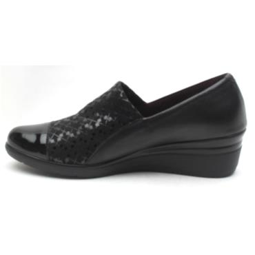 PITILLOS 5721 WEDGE SHOE - Black