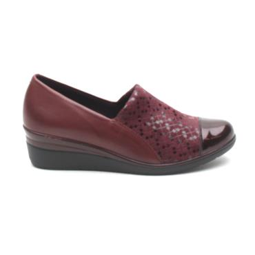 PITILLOS 5721 WEDGE SHOE - BURGUNDY