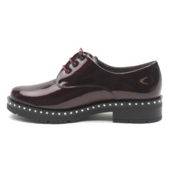 PITILLOS 5810 LACED SHOE - BURGUNDY PATENT