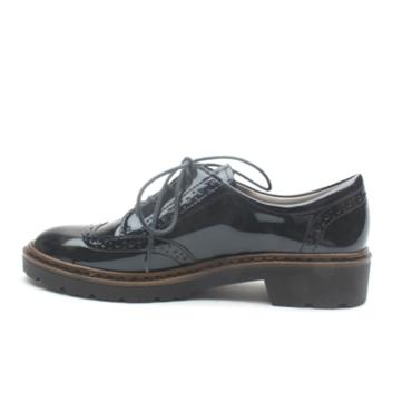 JENNY BY ARA  60006  BROGUE - NAVY PATENT