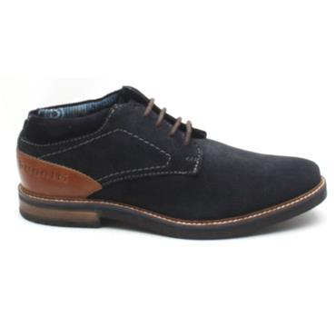 BUGATTI 60935 LACED BOOT - NAVY SUEDE