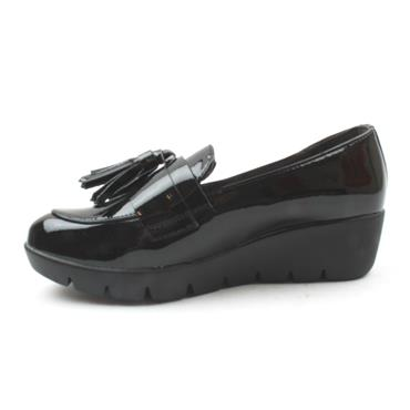 REDZ 61102 WEDGE SHOE - Black