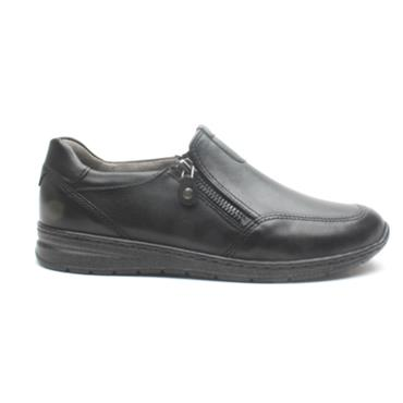 ARA 62442 H FIT ZIP SLIP ON SHOE - Black