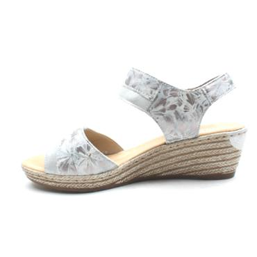 RIEKER 62470 WEDGE SANDAL - GREY