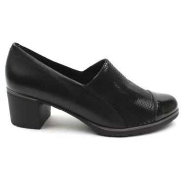 PITILLOS 6331 LOW HEEL SHOE - Black